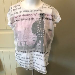 Garcia jeans T-shirt super cute size 16 fits med